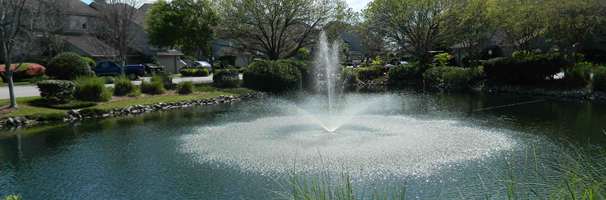Ohio pond and lake fountain services fountain repair Pond with fountain